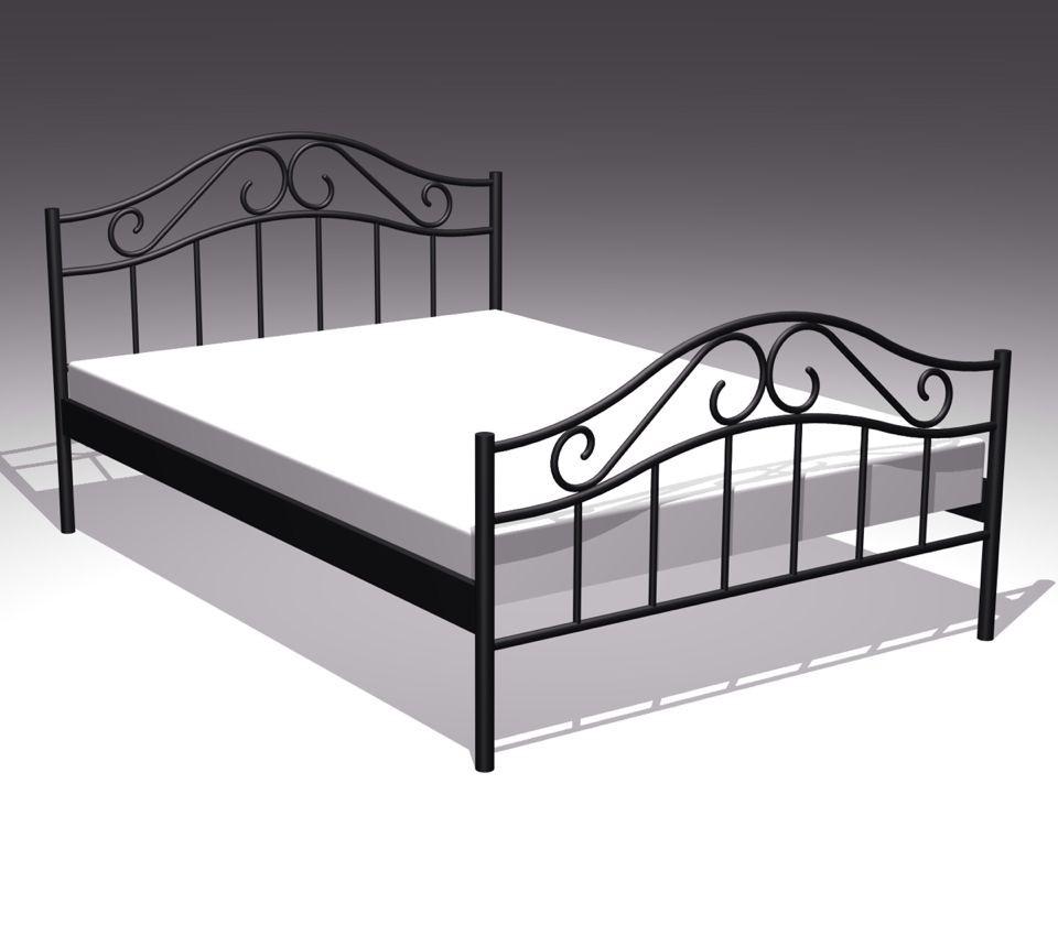 欧式高档铁艺床