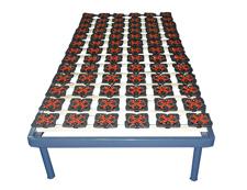 豪华型塑胶花单排平式排骨架